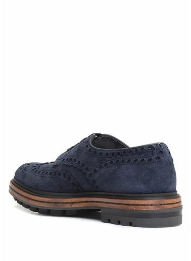 Santoni Deri Loafer Ayakkabı Lacivert